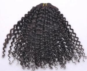 China Kinky Curl Natural Color Brazilian Virgin Hair Weave on sale