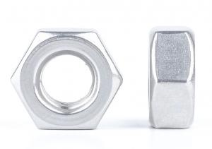 China Factory Supply Metric Thread DIN934 6061 Aluminum Alloy M3-M60 Hexagon Nut on sale