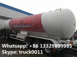 China FUWA leaf spring suspension triple axles 25ton lpg gas trailer for sale, lpg gas trailer for AA RANO COMPANY in Nigeria on sale