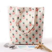 Cartoon Fruit Printed Custom Canvas Bags , Printed Promotional Bags