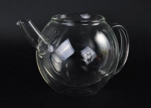 China Heat resistant clear Double Wall Borosilicate Glass teapot with lid on sale