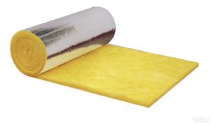 China Sound Absorption Glass Wool Blanket / Felt Roll Faced With aluminum foil on sale