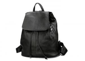 China Durable Large Space Black Color Womens Backpack Bags With Drawstring Closure on sale