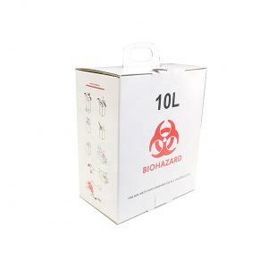 China 10L Biodegradable disposable white Cardboard box Medical Sharps Box on sale