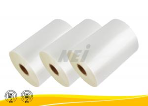 China Pro Coating Transparent Gloss Lamination Film For Show Bags / Paper Media on sale