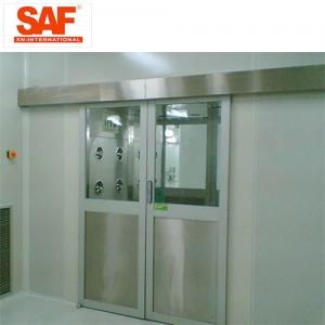 China Automatic Sliding Door Cleanroom Air Shower System Tunnel With Custom Width on sale
