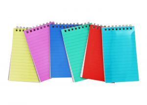 China Frosted colored PP cover top metal double spiral bound book printing service on sale