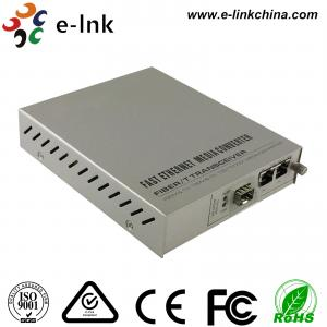 Quality Managed Gigabit Ethernet Fiber Media Converter 2- Port 10 / 100 / 1000Base-T to 1000 Base-X for sale