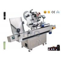 Automatic bottle labeler machine with turntable for pencil labeling