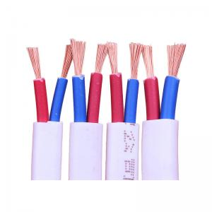 China RVVB 2 Core 3 Core Stranded Copper Wire , PVC Insulated Indoor Electrical Flat Cable on sale