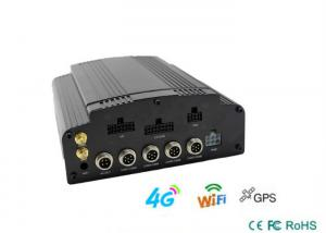 China H.264 Video Compression 4 Channel Mobile DVR Support 3G / 4G GPS WIFI on sale