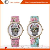 GV08 Fashion Jewelry Wholesale Human Skeleton Dial Watch Quartz Analog Watches Lady Woman