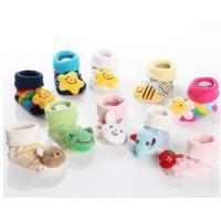 China Custom logo, design Lovely animal head anti-slip cotton infant baby socks on sale