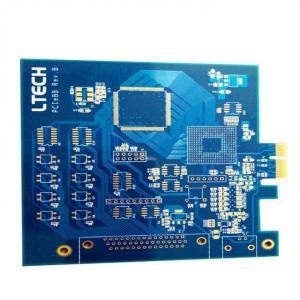 China IMS PCB 3d printers Gold finger PCB blue solder mask PCB smt pcb assembly on sale