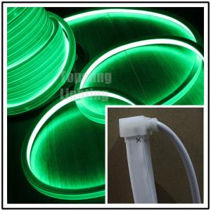 China Popular 24V DC flat green led neon flex16x16mm square shape for home decoration on sale