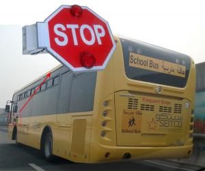 China Automatic School bus sign / Electronic stop arm  With Reflective Sheet Built-in Buzzer on sale