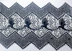 Customized Width Polyester Lace African Cord Trims With OEKO TEX 100 / Lace Dress Fabric