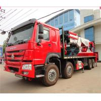 12 Wheeler 8x4 50 Ton Truck Mounted Knuckle Boom Cranes 50m Working Height