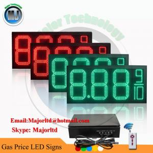 China Outdoor Waterproof Green Petrol Station LED Signs with Wireless Remote control on sale
