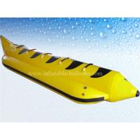 0.9mm PVC Tarpaulin Inflatable Water Toys , 4m Inflatable Banana Boat