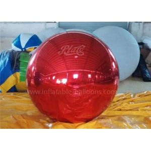 China Inflatable Christmas Decoration Balloons Personalised Red Mirror Ball on sale