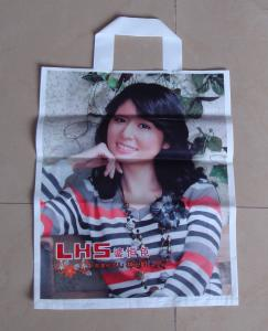 China Lady Image Biodegradable Shopping Bags HDPE LDPE for Shoes on sale
