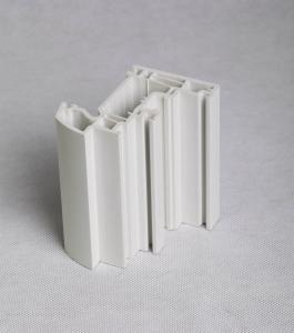 China 70の開き窓UPVCの窓のプロフィール/白い突き出されたプラスチック プロフィール熱は絶縁します on sale