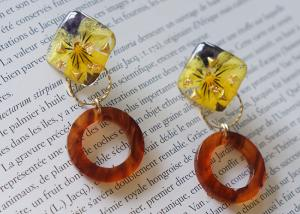 China Iceland Halo Yellow Cute Earstud Accessories Ring Shape New Design Earrings For Girl on sale