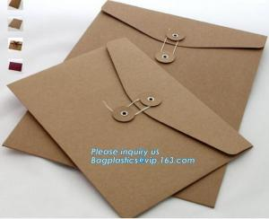 China Customized logo paper envelope for plastic card from China supplier,Customized Kraft Paper Antique Envelop Mailer Envelo on sale