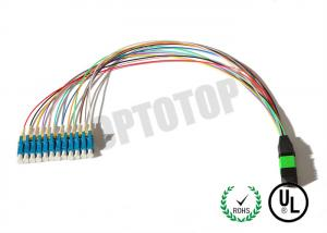 China N Core Mpo Fiber Connector  Multimode With SC LC FC Connector , UPC PC APC Polish on sale