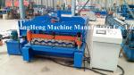 5.5kw + 4kw Glazed Tile Roll Forming Machine With 5 Ton capacity Hydraulic Decoiler