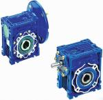 China Mechanical NMRV Worm Transmission Reverse Gearbox With Motor , Solid Shaft wholesale