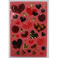 China Fashion Leopard Heart Shaped Epoxy Stickers For Bags / Cell Phone on sale