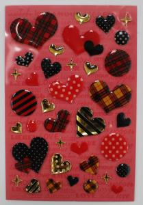 China Fashion Leopard Heart Shaped Epoxy Stickers For Bags / Cell Phone 80 X 120mm on sale