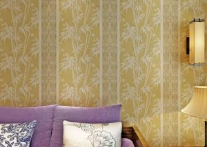 China 0.53*10 Living Room Asian Inspired Wallpaper / Asian Themed Wallpaper Beige Color on sale