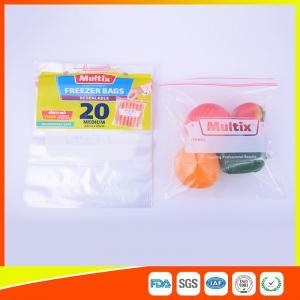 China Biodegradable Freezer ZipLock Plastic Bags For Supermarket / Household on sale