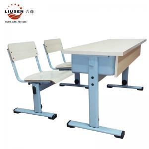 China Excellent quality   wood color school student  table simple  training center  school  furniture /Gaungzhou furniture on sale