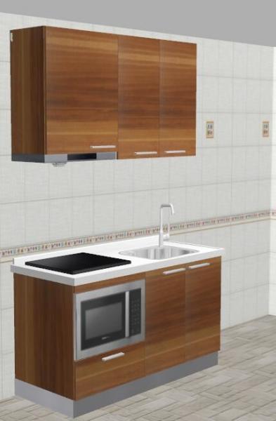18mm MFC Borad Kitchen Cabinet Sets Aluminium Profile Handle ...