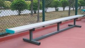 Quality One Row Portable Football Substitute Bench Aluminum Bleacher UV Resistant Anti - Aging for sale