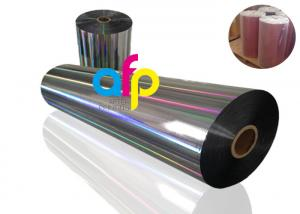 China 20 Mic PET Dry Holographic Film Roll?, Clear Polyester Film With Rainbow Pattern on sale