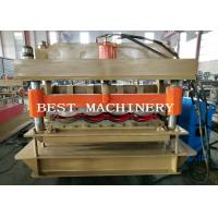 China Guide Pillar YX-828 Glazed Roof Tile Roll Forming Machine PLC Control on sale
