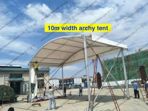 China 12 To 15m Width Clear Span Archy Storage Tent Aluminum Structure With ABS Wall System on sale
