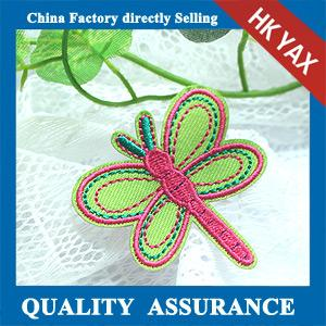 China wholesale dragonfly embroidery patches;kids fashion embroidery patch for clothes; iron  on transfer embroidery patch on sale