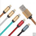 携帯電話の移動式充電器ケーブル、USB 3.0 PUはIPhoneのための速い充満データ ケーブルを覆いました