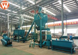 China Customized Chicken Feed Production Equipment , Individual Cattle Feed Processing Plant on sale