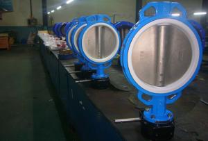 Quality High Pressure Wafer Type Butterfly Valve / OEM 6 Inch Butterfly Valve for sale