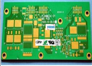 China Green HDI PCB Board / 10 Layer PCB Gold Edge Plating HDI for Electronics on sale