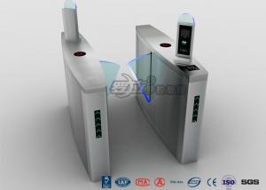 China Fingerprint Flap Barrier Turnstile Half Height Security 304 Stainless Steel on sale