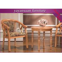 China Round Wood Dining Table From Furniture Exporter For Supply With Good Price (YW-34) on sale