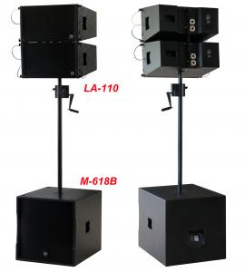 China 380W Line Array Speaker , With 2x1+10 Neodymium Drivers For Living Event , DJ , Party And Installation on sale